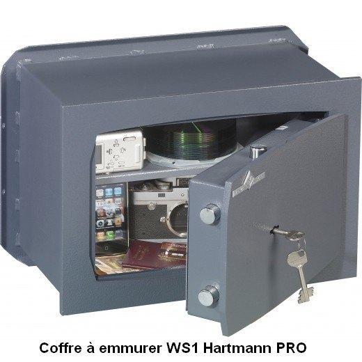 ask s curit hartmann ws1 coffre fort emmurer serrure cl s a2p 5. Black Bedroom Furniture Sets. Home Design Ideas