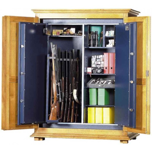 armoire 17 fusils et munitions serrure cl hartmann. Black Bedroom Furniture Sets. Home Design Ideas